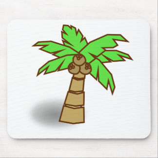 Palm Tree Drawing Mouse Pad