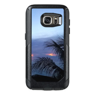 Palm Tree Dusky Blue Sunrise OtterBox Samsung Galaxy S7 Case