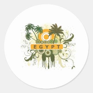 Palm Tree Egypt Classic Round Sticker