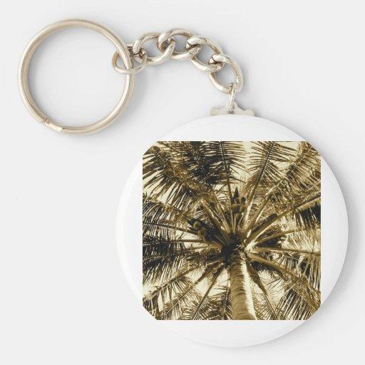 Palm Tree Fan Keychain