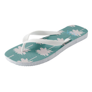 Palm Tree Flip Flops Personalized