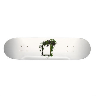 Palm tree frame green and black.png 21.3 cm mini skateboard deck