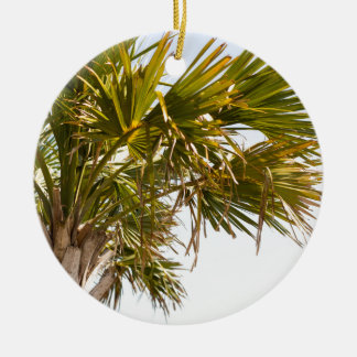 Palm Tree from the East Coast famous Myrtle Beach Round Ceramic Decoration