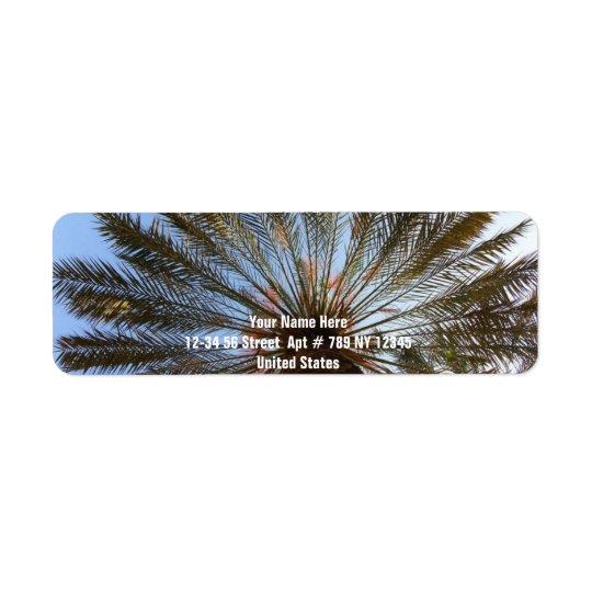 Palm Tree From Under 2 Return Address Label