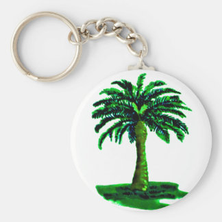 Palm Tree Green The MUSEUM Zazzle Gifts Keychain