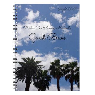 Palm Tree Guest Book Spiral Notebook
