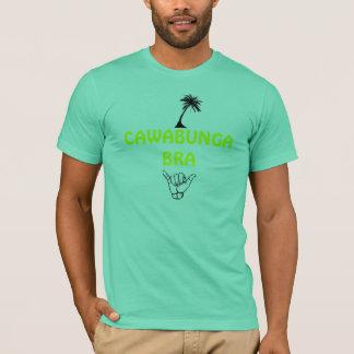palm_tree, hang loose, CAWABUNGA BRA T-Shirt