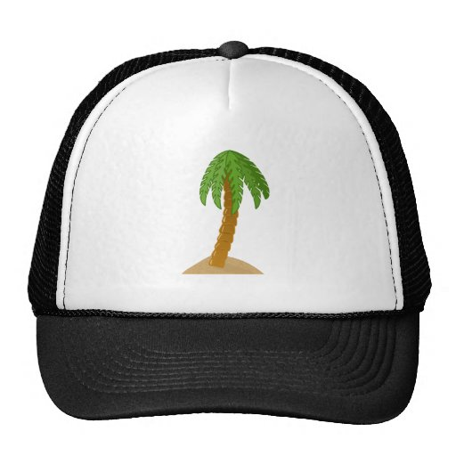 Palm Tree Mesh Hat