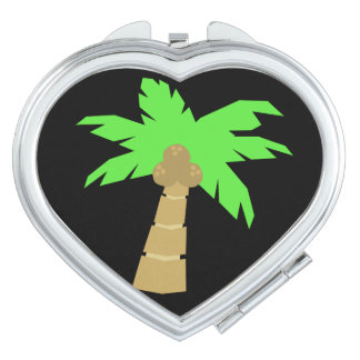 Palm Tree  Heart Compact Mirror