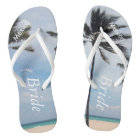Palm Tree I Wedding Flip Flops Bride Beach Sandals