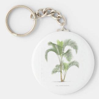 Palm tree illustration collection keychain