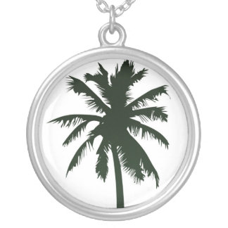 Palm tree in black necklace