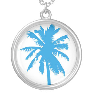 Palm tree in blue necklace