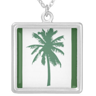 Palm tree in green necklace