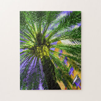 Palm tree in the evening jigsaw puzzle
