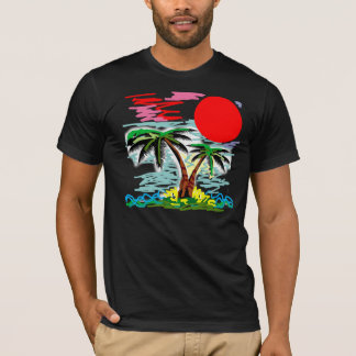 Palm tree in the sea T-Shirt