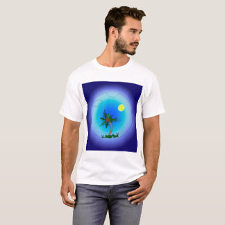 Palm tree in the sea. T-Shirt