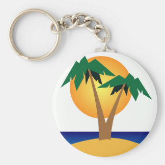 Palm Tree Island keychain