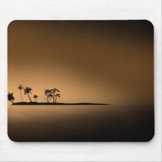 Palm-tree-island-sunset1432 GOLDEN PALM ISLAND SUN Mouse Pad