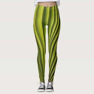 Palm Tree Leaf Leggings