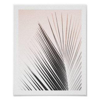Palm Tree Leaf Poster | Pink 8x10