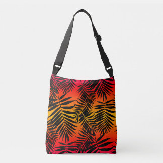 Palm Tree Leaf Shadow On Sunset For Teens Crossbody Bag