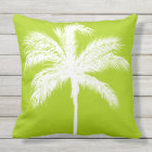 Palm Tree Lime Outdoor Cushion