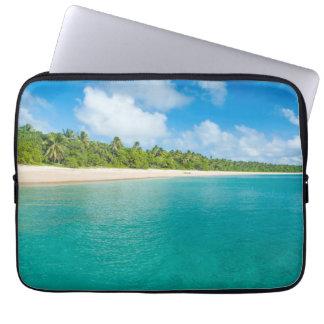 Palm tree lined beach, Tonga Laptop Computer Sleeve