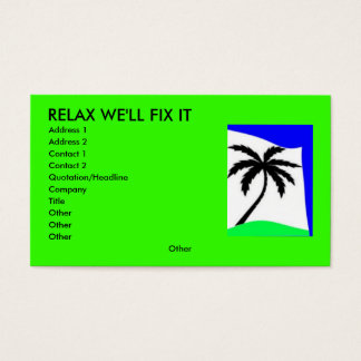 palm tree love, RELAX WE'LL FIX IT, Address 1, ...