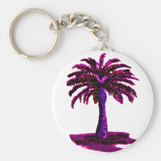 Palm Tree Magenta The MUSEUM Zazzle Gifts Keychains