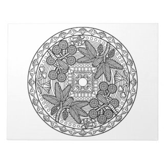 Palm Tree Mandala Coloring Book Pad