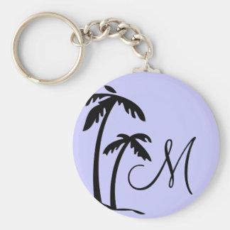 Palm Tree Monogram Keychain