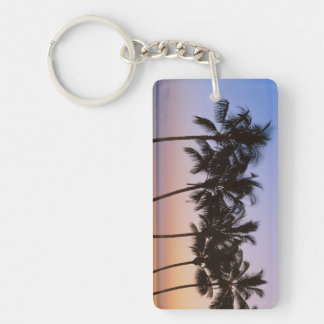 Palm tree, morning key ring