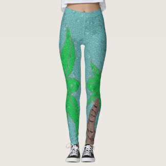 Palm Tree Mosaic leggings