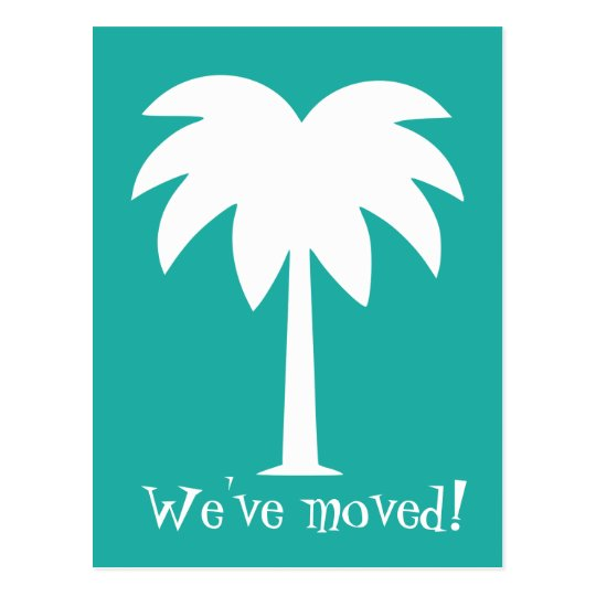 Palm tree moving postcards for new home