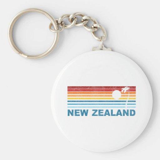 Palm Tree New Zealand Key Chain