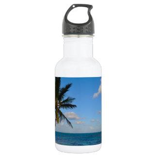 Palm Tree on a Beach 532 Ml Water Bottle