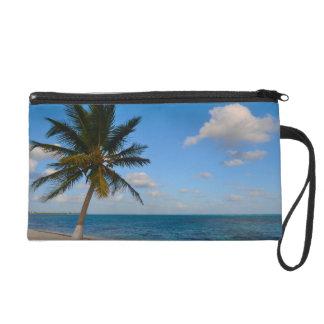 Palm Tree on a Beach Wristlet