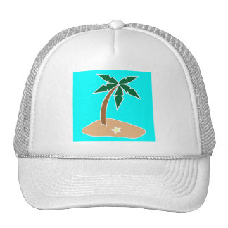 Palm Tree on a Sandy Island in the Tropics Cap