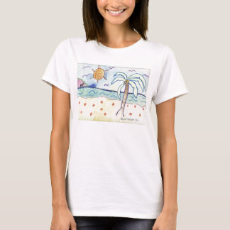Palm Tree on Beach T-Shirt