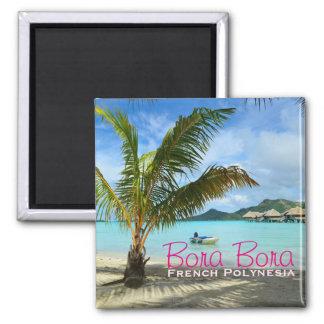 Palm tree on Bora Bora text magnet