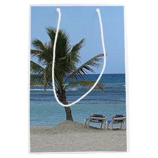 Palm Tree on the Beach Medium Gift Bag
