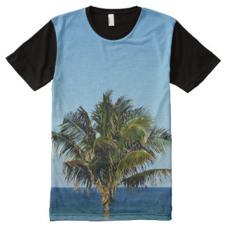 Palm Tree Over The Ocean All-Over Print T-Shirt