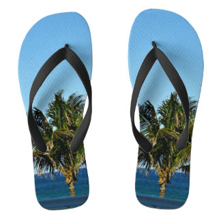 Palm Tree Over The Ocean Thongs