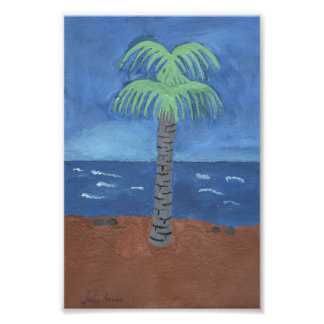 Palm Tree Painting by Julia Hanna Poster