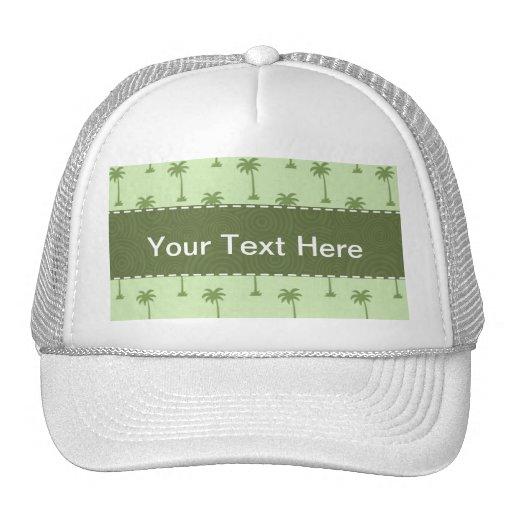 Palm Tree Pattern Mesh Hats