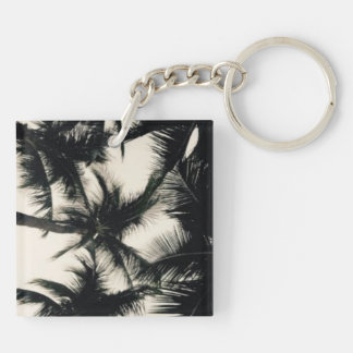 Palm Tree photograph Double-Sided Square Acrylic Key Ring