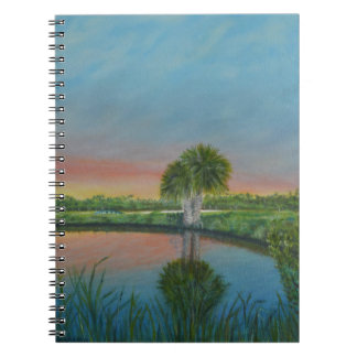 Palm Tree Pond Photo Notebook (80 Pages B&W)