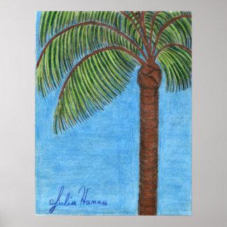 Palm Tree Poster by Julia Hanna