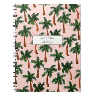 Palm Tree Print Custom Notebook